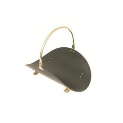 Дровница для камина Н101 РВ (черно-золотая)