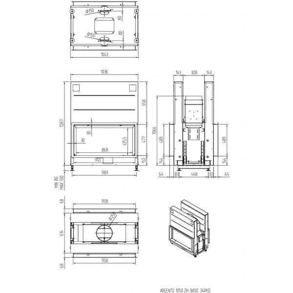 ТОПКА LUNA 1050DН ARGENTO (BASIC/PREMIUM)
