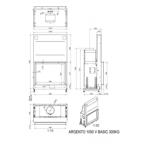 ТОПКА LUNA 1050V ARGENTO (BASIC/PREMIUM)