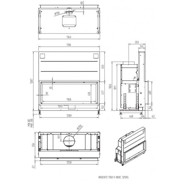 ТОПКА LUNA 1350Н ARGENTO (BASIC/PREMIUM)