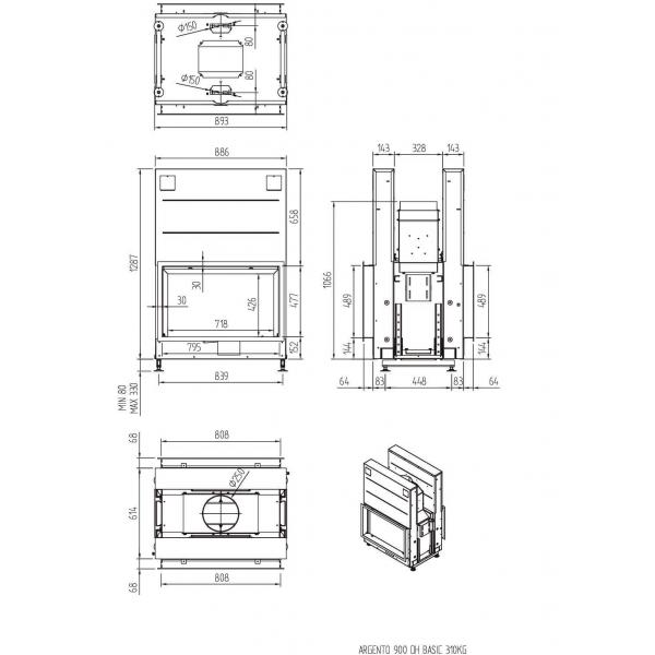 ТОПКА LUNA 900DН ARGENTO (BASIC/PREMIUM)